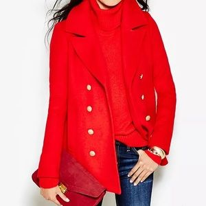 J. Crew Factory Red Peacoat - size 2